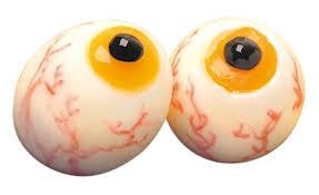 olhos de ovos para halloween