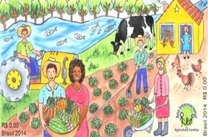 selos postais brasileiros agricultura