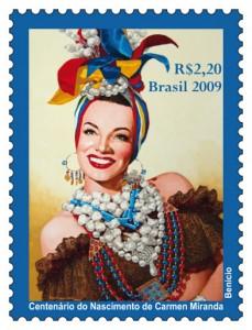 selos postais brasileiros carmem miranda