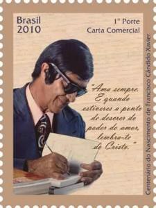 selos postais brasileiros chico xavier