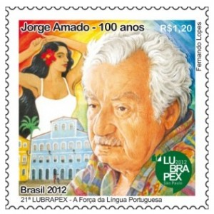 selos postais brasileiros jorge amado