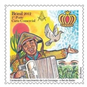 selos postais brasileiros luiz gonzaga