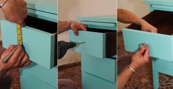 transformar escrivaninha velha em trocador de bebe 4