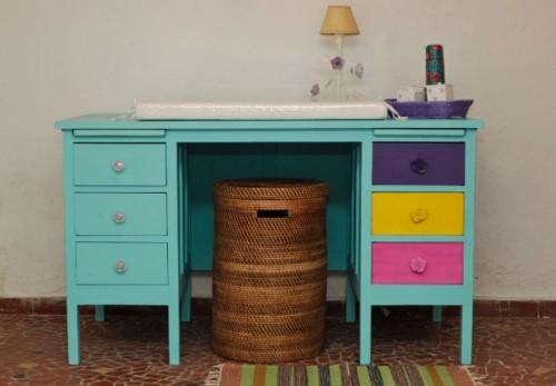 transformar escrivaninha velha em trocador de bebe 5