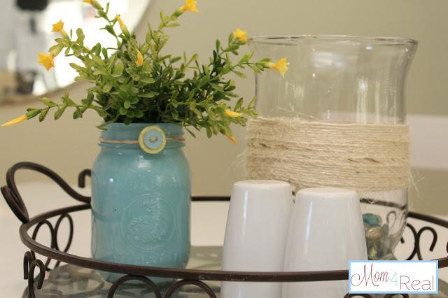 vasos de flores com vidros usados 4