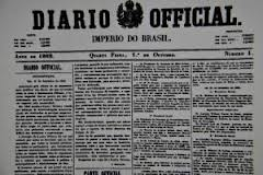 criação do Diário Oficial do Império brasileiro
