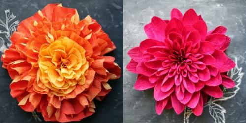 lindas flores de papel crepon 2