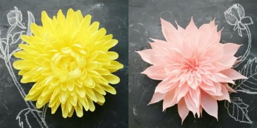 lindas flores de papel crepon
