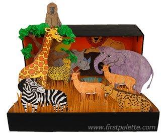 recortes de animais e seus habitats 4