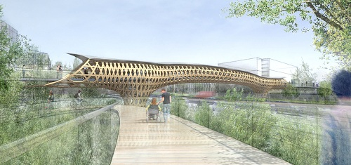 shigeru ban Claude Bernard Footbridge in Paris