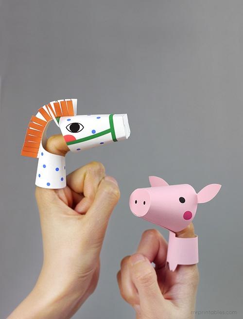 dedoches de papel com cabeca articulada '2