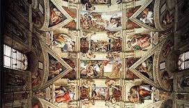 Michelangelo no teto da Capela Sistina