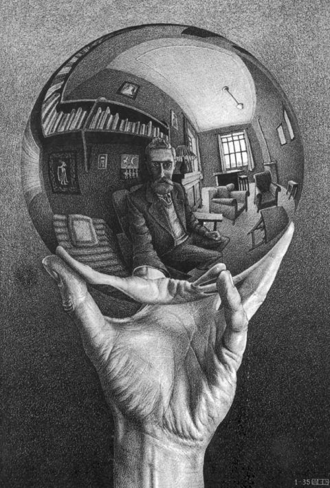 litografia escher-hand-with-reflecting