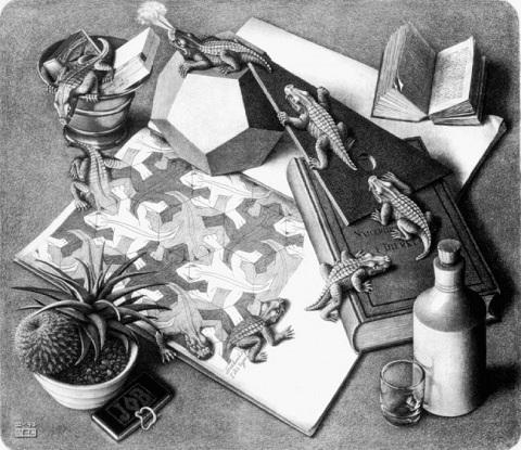 litografia escher-reptiles