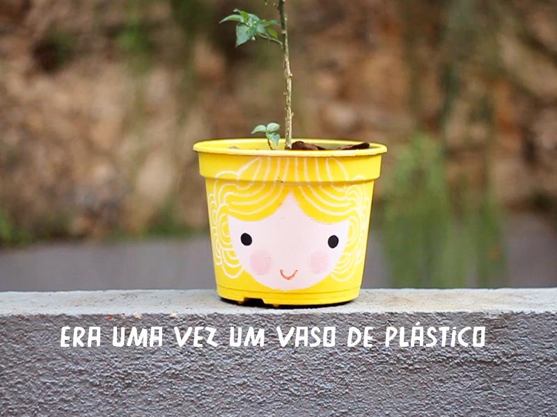 vasos de plantas com carinhas pintadas 01