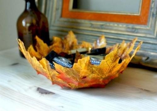 objetos de decoracao com folhas secas 01