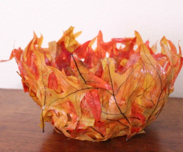 objetos de decoracao com folhas secas 07