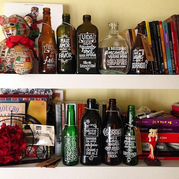as garrafas inspiradoras do projeto letras garrafais 08