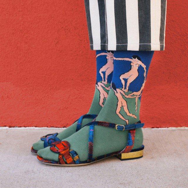 criativas meias inspiradas em obras de arte 04
