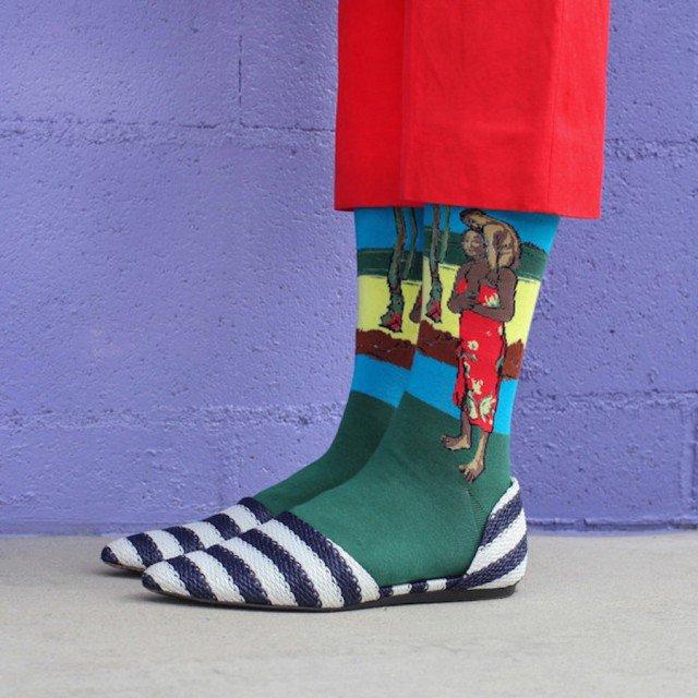 criativas meias inspiradas em obras de arte 06
