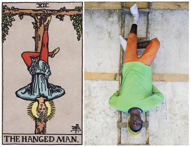 projeto ghetto tarot: reprodução de imagem das cartas no haiti