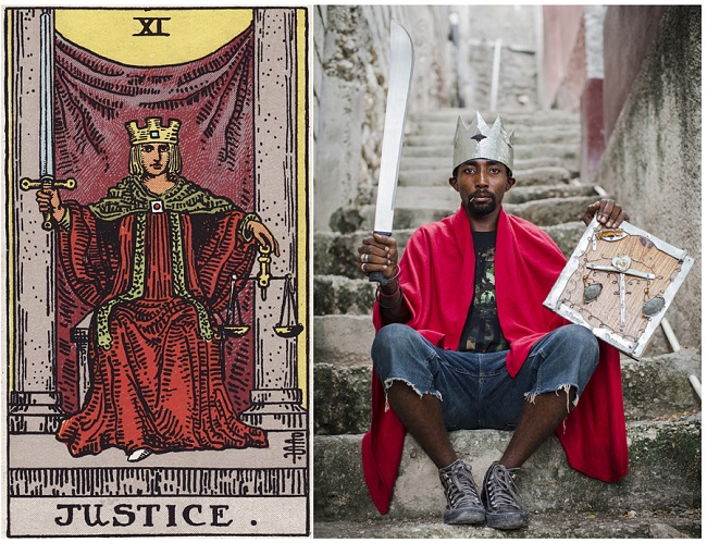 projeto ghetto tarot: reprodução de imagem das cartas no haiti 02