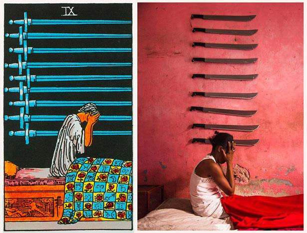 projeto ghetto tarot: reprodução de imagem das cartas no haiti 04