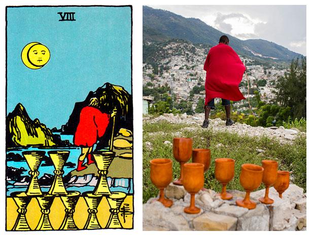 projeto ghetto tarot: reprodução de imagem das cartas no haiti 05
