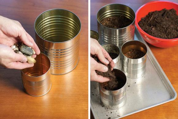 mini horta com latas de aluminio 03