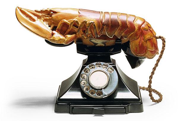 salvador dali telefone lagosta