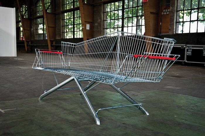 """Carrinho de supermercado """"upcycled"""", por Etienne Reijnders"""