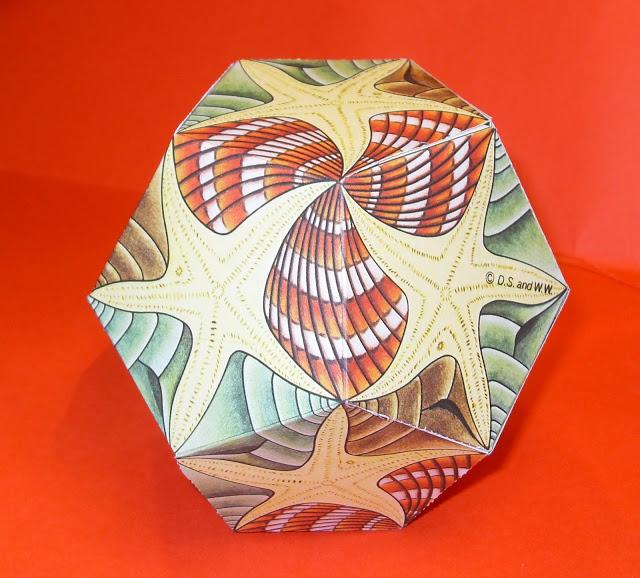 como fazer um dodecaedro inspirado na arte de mc escher