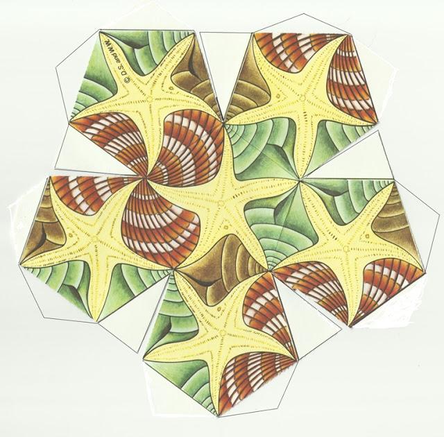 como fazer um dodecaedro inspirado na arte de mc escher 02