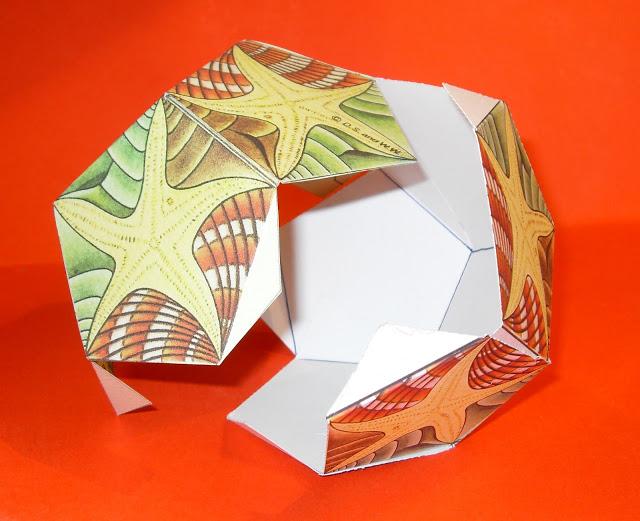 como fazer um dodecaedro inspirado na arte de mc escher 03