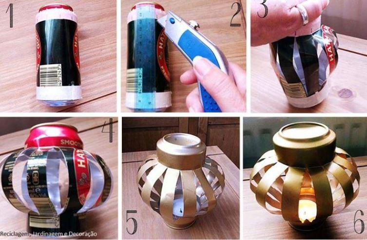 luminaria de lata de cerveja 05