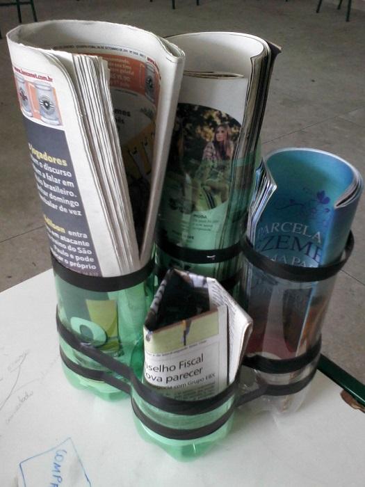 porta revistas de garrafa pet 04
