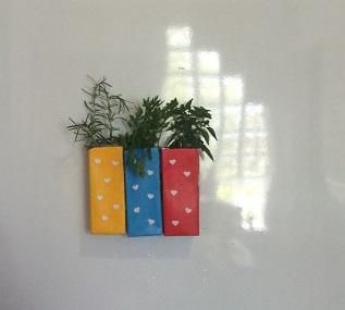 vasinhos de ervas com caixas de suco (1)