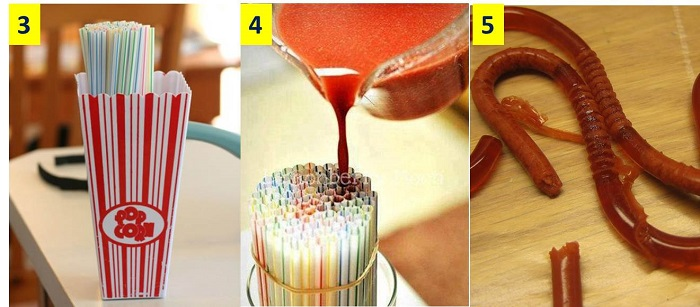como fazer minhocas e vermes de gelatina 03