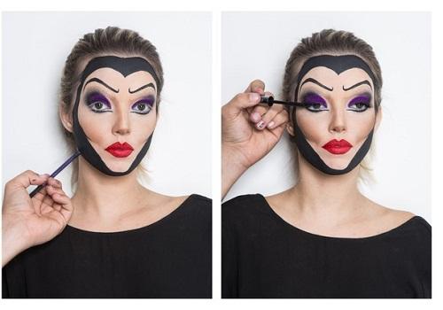 maquiagem da rainha ma para o halloween 03